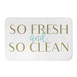 2-Foot 8-Inch x 1-Foot 75-Inch So Fresh and Clean Bathroom Mat in Yellow/Gold