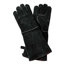 Leather BBQ Gloves in Black