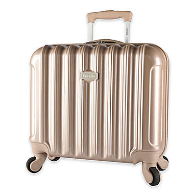 Kensie Metallic 17-Inch Hardside Spinner Underseat Luggage