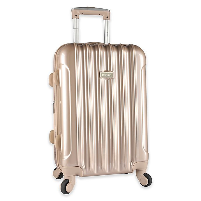 Alternate image 1 for Kensie Metallic 20-Inch Hardside Spinner Carry On Luggage