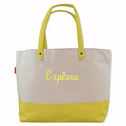 CB Station Heavy Duty Dipped Tote in Yellow