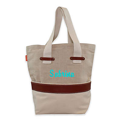 CB Station Jute and Canvas Tote