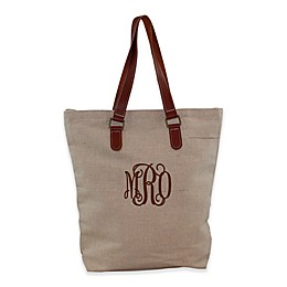 CB Station Jute and Leather Tote