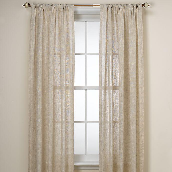 B Smith Barbados Natural Window Curtain Panel