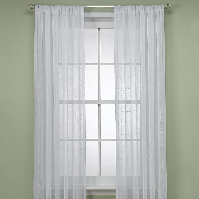 Aruba 95-Inch Window Curtain Panel In White