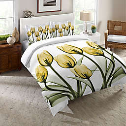 Laural Home® Golden Tulips Comforter in Yellow/White