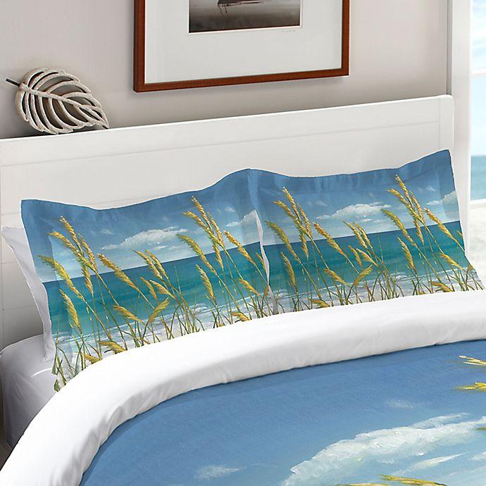 Laural Home 174 Summer Breeze Standard Pillow Sham In Blue