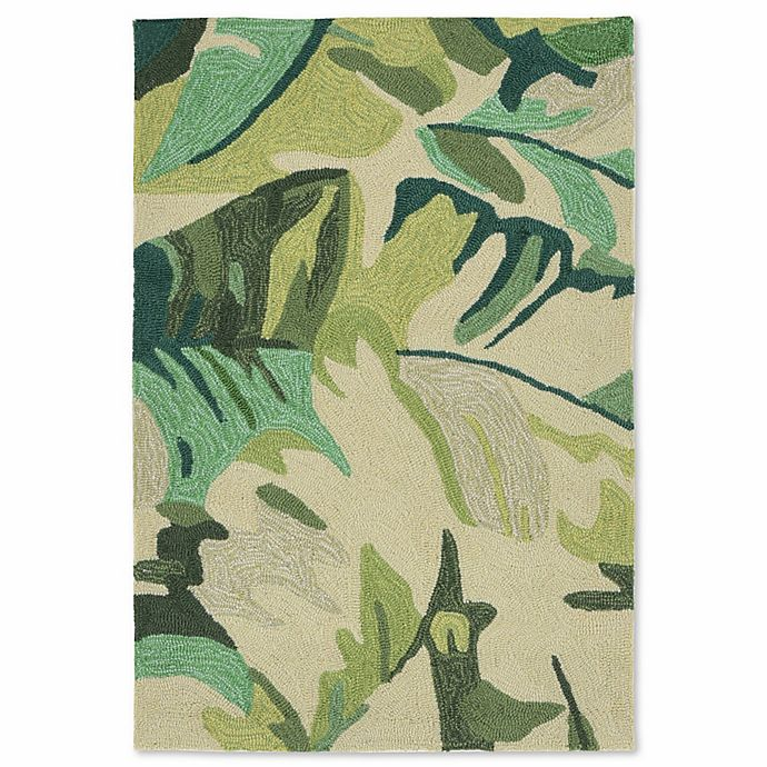 Alternate image 1 for Liorra Manne Capri Palm Leaf 2-Foot x 3-Foot Indoor/Outdoor Accent Rug in Green