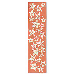 Liorra Manne Capri Starfish 2-Foot x 8-Foot Indoor/Outdoor Runner in Coral