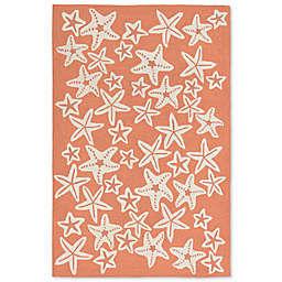 Liorra Manne Capri Starfish 7-Foot 6-Inch x 9-Foot 6-Inch Indoor/Outdoor Area Rug in Coral