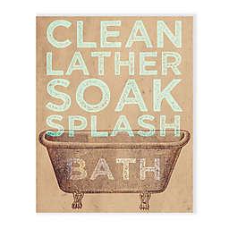 Bath Typography 16-Inch x 20-Inch Canvas Wall Art