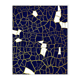 Crack 16-Inch x 20-Inch Canvas Wall Art in Blue/Gold