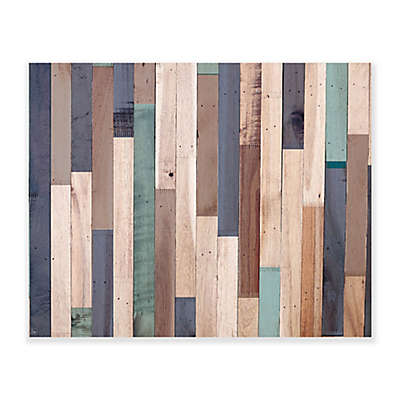 Cold Hues of Wood 20-Inch x 16-Inch Canvas Wall Art