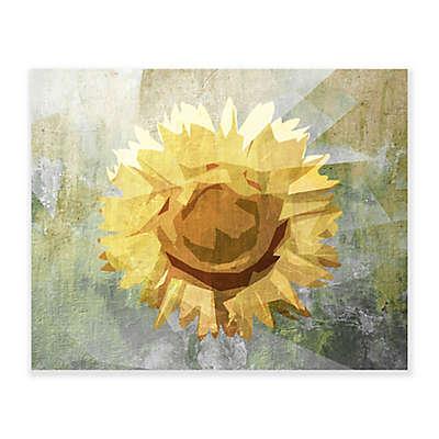 Concrete Sunflower 20-Inch x 16-Inch Canvas Wall Art