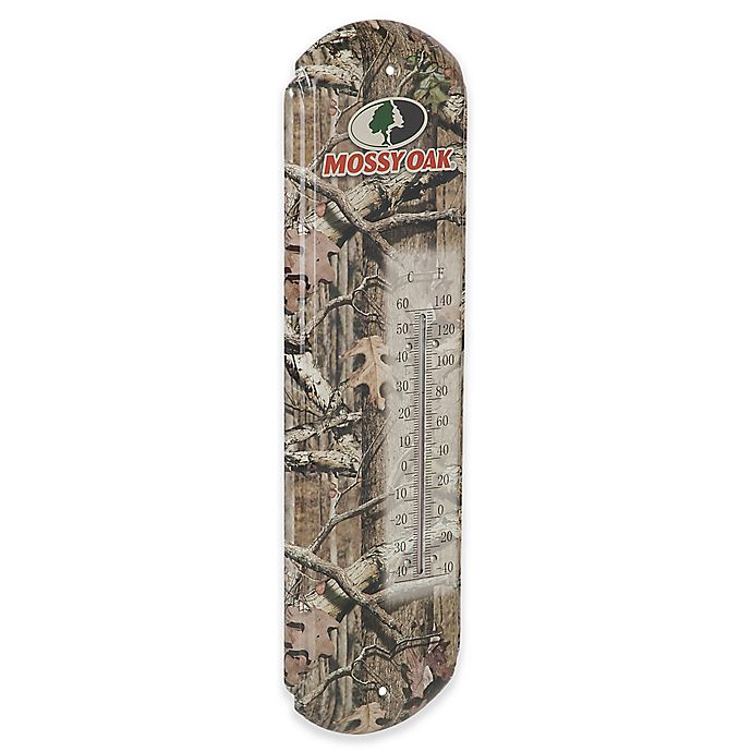 Alternate image 1 for Mossy Oak® Tin Thermometer
