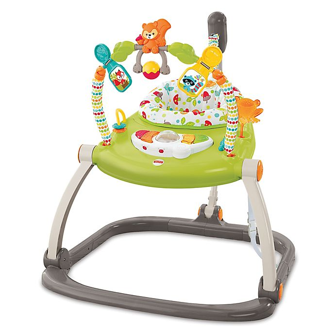 Alternate image 1 for Fisher-Price® Woodland Friends Space Saver Jumperoo® in Green