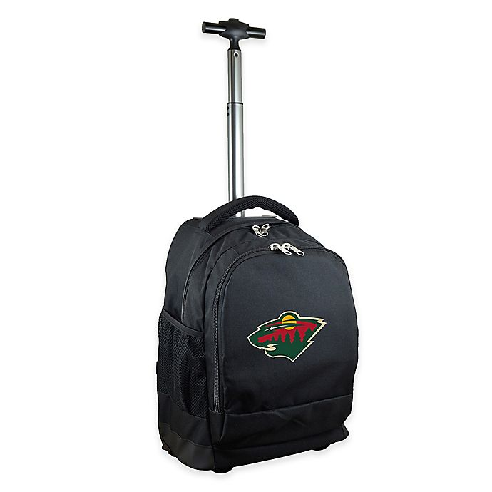 Alternate image 1 for NHL Minnesota Wild 19-Inch Wheeled Backpack in Black