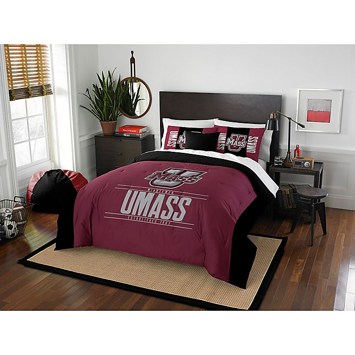 Alternate image 1 for University of Massachusetts Modern Take Full/Queen Comforter Set