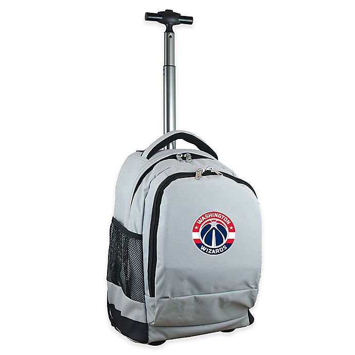 Alternate image 1 for NBA Washington Wizards 19-Inch Wheeled Backpack in Grey