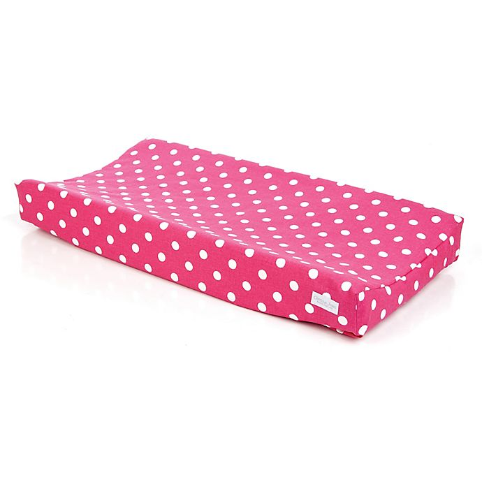 Alternate image 1 for Glenna Jean Ellie and Stretch Changing Pad cover in Pink/White