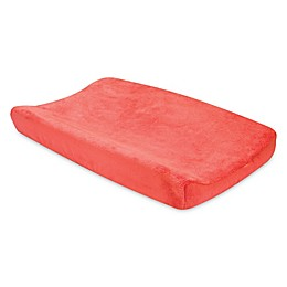 Trend Lab® Porcelain Rose Coral Plush Changing Pad Cover