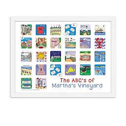 The ABCs of Martha's Vineyard Poster Wall Art