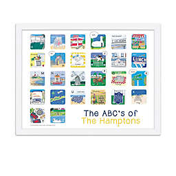 The ABCs of The Hamptons 18-Inch x 24-Inch Poster Wall Art