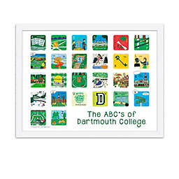 The ABCs of Dartmouth College 18-Inch x 24-Inch Poster Wall Art