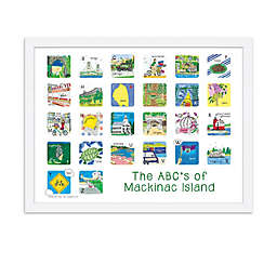 The ABCs of Mackinac Island 18-Inch x 24-Inch Poster Wall Art