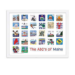 The ABCs of Maine 18-Inch x 24-Inch Poster Wall Art