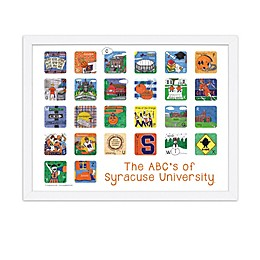 The ABCs of Syracuse University 18-Inch x 24-Inch Poster Wall Art