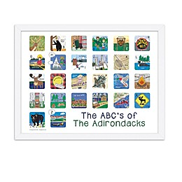 The ABCs of The Adirondacks 18-Inch x 24-Inch Poster Wall Art