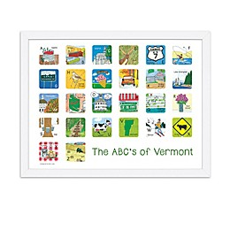 The ABCs of Vermont 18-Inch x 24-Inch Poster Wall Art