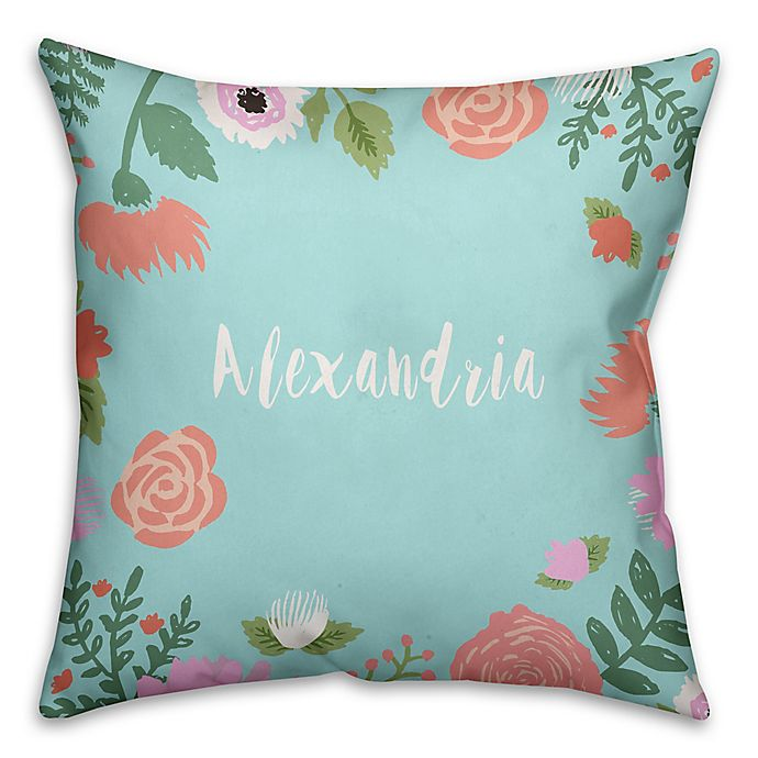 Alternate image 1 for Designs Direct Little Lady Collection Floral and Polka Dot Children's Pillow in Blue/Pink
