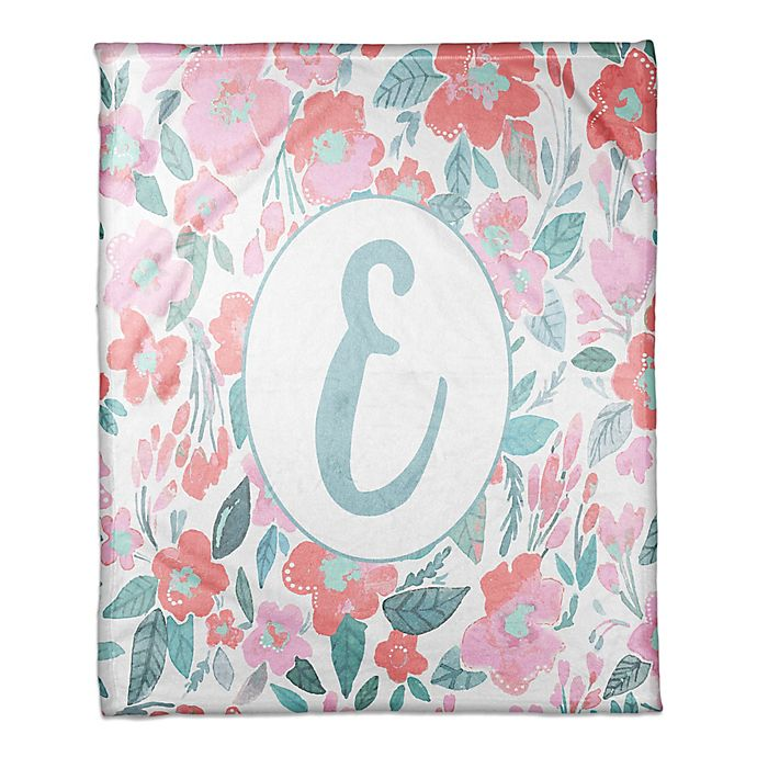 Alternate image 1 for Designs Direct Little Lady Elegant Floral Throw Blanket