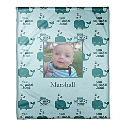Designs Direct First Mate Tiny Whales Throw Blanket