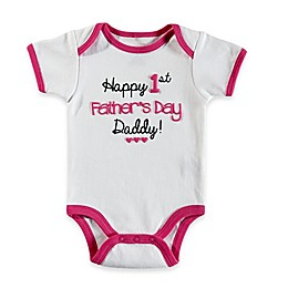 "babyGEAR™ ""Happy 1st Father's Day"" Bodysuit in White"