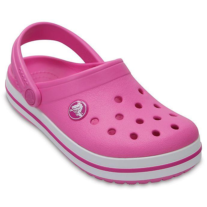 Alternate image 1 for Crocs™ Crocband™ Kids' Clog in Pink