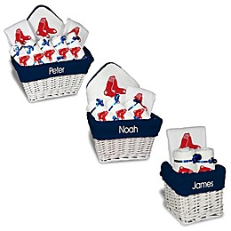 Designs by Chad and Jake MLB Personalized Boston Red Sox Baby Gift Basket