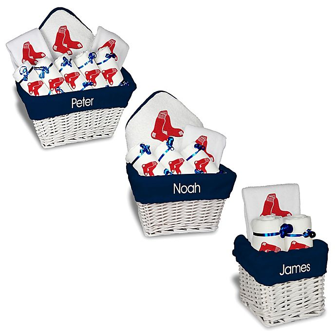 Alternate image 1 for Designs by Chad and Jake MLB Personalized Boston Red Sox Baby Gift Basket