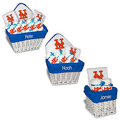 Designs by Chad and Jake MLB Personalized New York Mets Baby Gift Basket