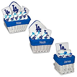 Designs by Chad and Jake MLB Personalized Los Angeles Dodgers Baby Gift Basket