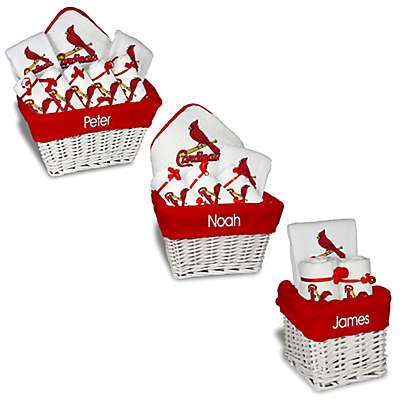 Designs by Chad and Jake MLB Personalized St. Louis Cardinals Baby Gift Basket
