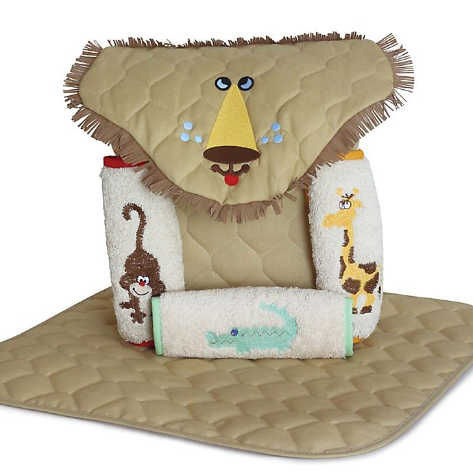 Alternate image 1 for Silly Phillie® Lion 5-Piece Diaper Tote Gift Set in Tan