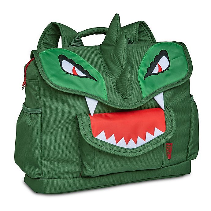 Alternate image 1 for Bixbee Dino Pack Backpack in Green/Red