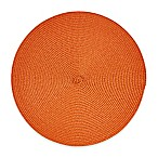 Indoor/Outdoor 15-Inch Round Placemat in Spice