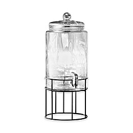 Style Setter Artesia 2-Gallon Beverage Dispenser with Metal Stand