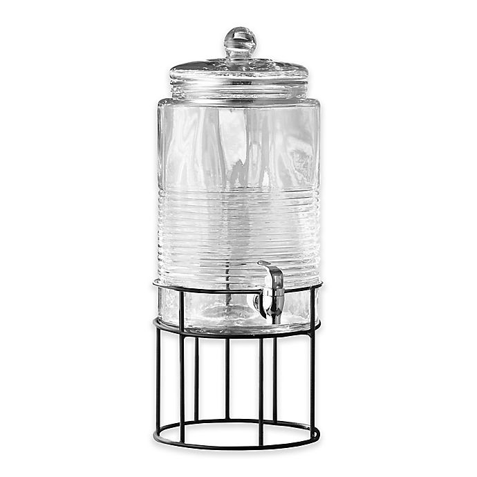 Alternate image 1 for Style Setter Covina 2-Gallon Beverage Dispenser with Metal Stand