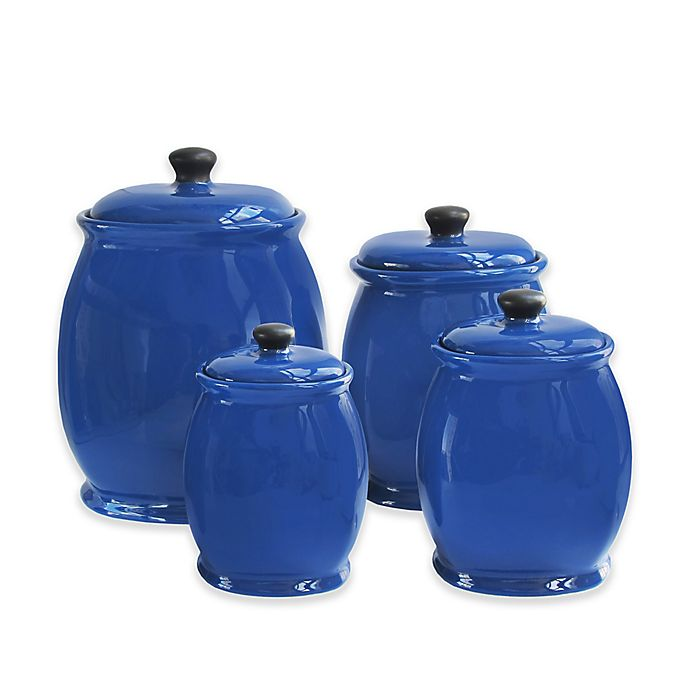 Alternate image 1 for American Atelier 4-Piece Canister Set in Blue