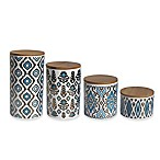American Atelier 4-Piece Canister Set in Blue/Gold